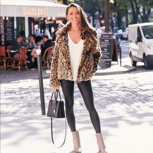 Sam Edelman Faux Fur Leopard Jacket MED
